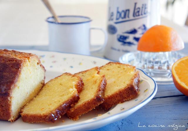 Cake de naranja glaseado