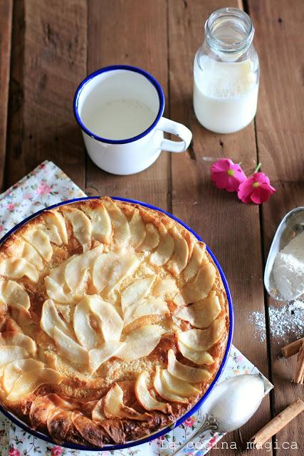Pudding de pera y chocolate