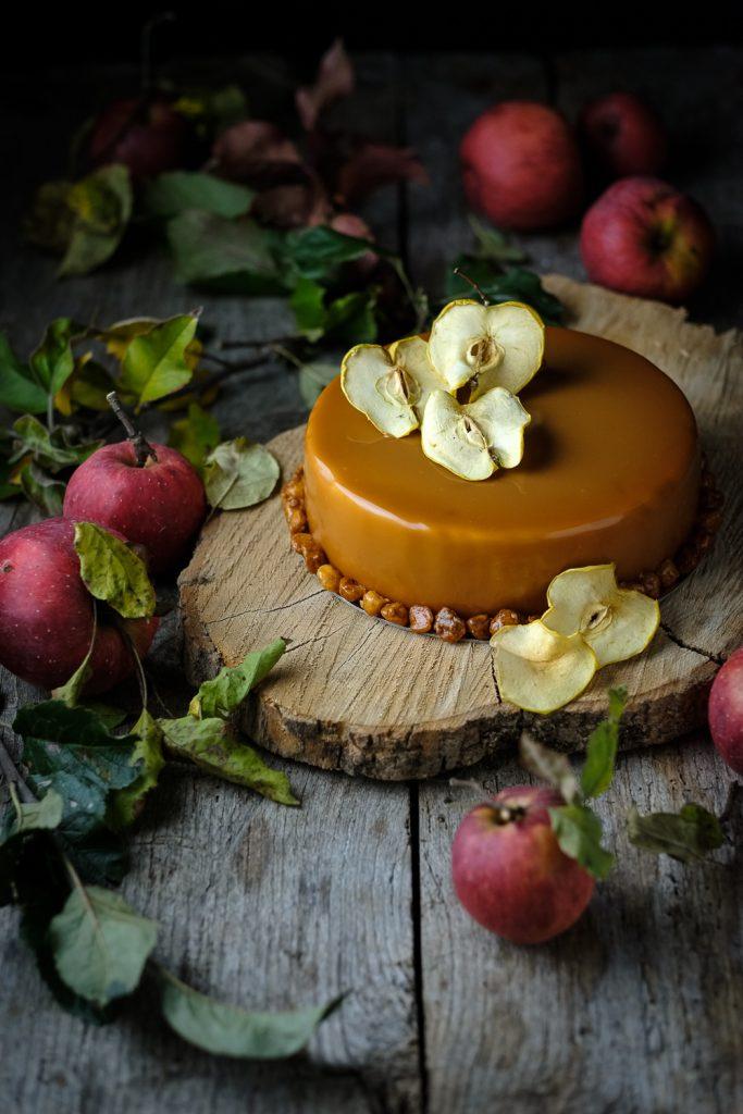 Tarta de manzana y caramelo