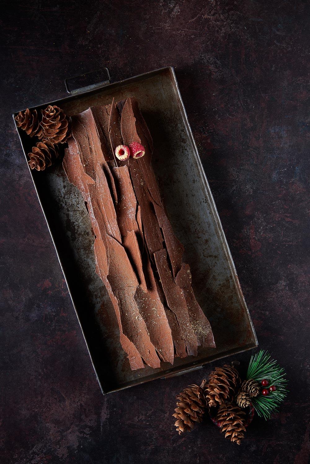 """Tronco de Navidad """"Chocolate y frambuesa"""""""